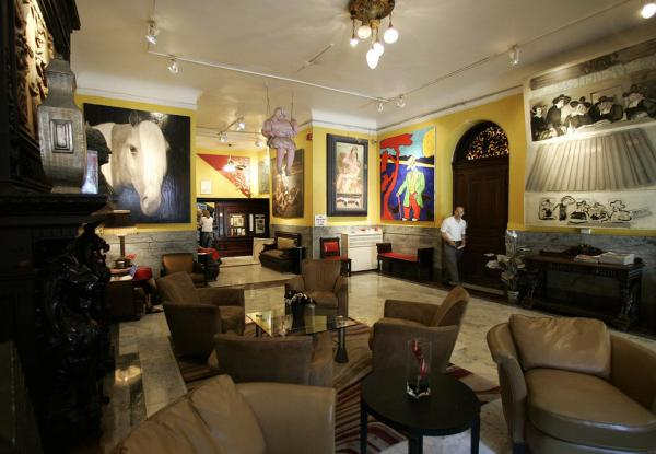 The Chelsea's lobby, shown above in 2007, was once filled with the work of its residents.