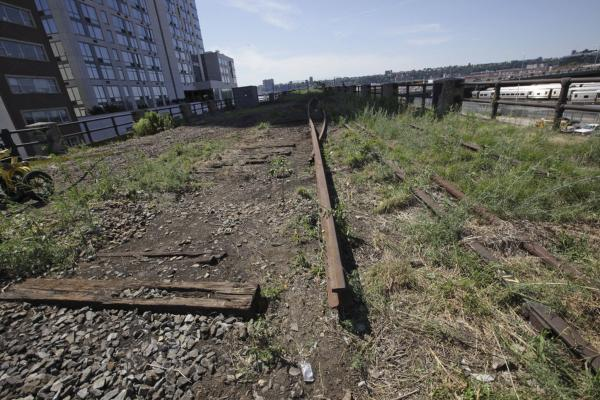 The historic High Line rails run from Gansevoort Street to West 34th Street, but the park stops at West 30th Street. David and Hammond are currently working to extend the park into the remaining section of unused tracks.