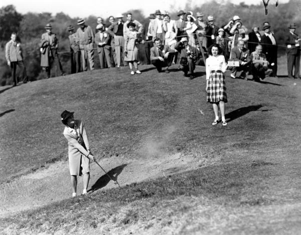 Zaharias returned to the L.A. Open in January 1945, becoming the first woman in history to make the cut in a regular PGA tournament. She shot a 76 on the first day of competition.