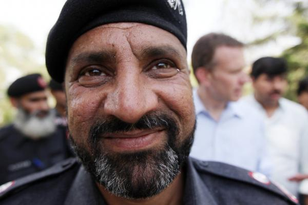 """District Officer Irshad Alam commands the Frontier Constabulary troops near Peshawar, at Shabqadar Fort. He lost nearly 80 men last month in car and suicide bombings. Irshad took their deaths hard: """"Maybe it's a punishment from God."""""""