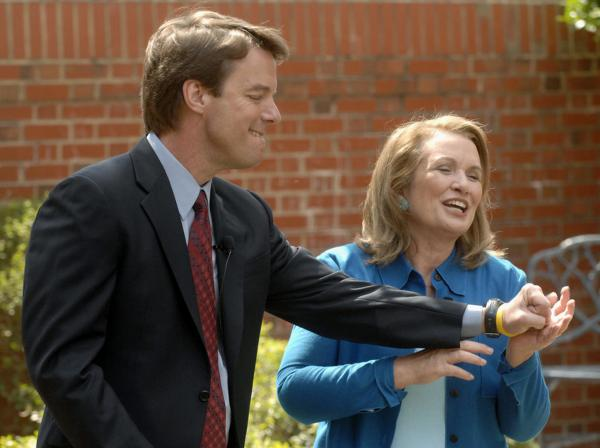John and Elizabeth Edwards gathered the media on March 22, 2007 to announce that Elizabeth Edwards' cancer had returned – but that the quest for the presidency would continue.