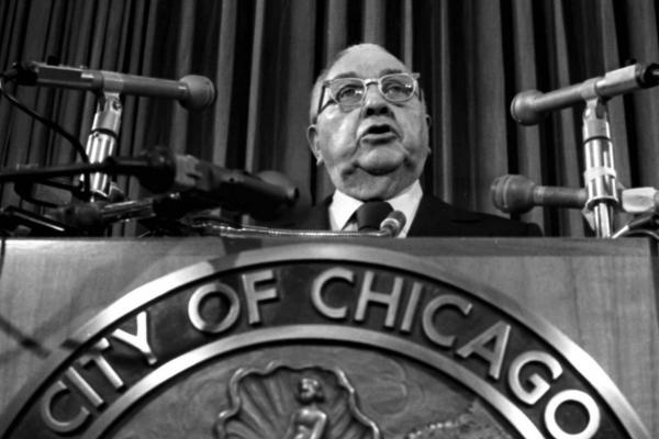 Then-Chicago Mayor Richard J. Daley speaks during a news conference in this undated photo. Daley served as mayor from 1955 until 1976, when he died from a heart attack. His son, Richard M. Daley, continued the family legacy and surpassed his father's record by becoming Chicago's longest-serving mayor.