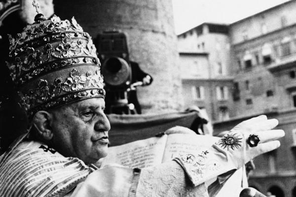 Pope John XXIII (1881-1963): John XXIII raises his hand in blessing at the Vatican in 1958. He has been on a slower beatification track than John Paul — more common for a process that can often take decades. John XXIII was beatified in 2000, almost 40 years after his death. The popular pope was known for calling the Second Vatican Council, which ushered in liberalizing changes.