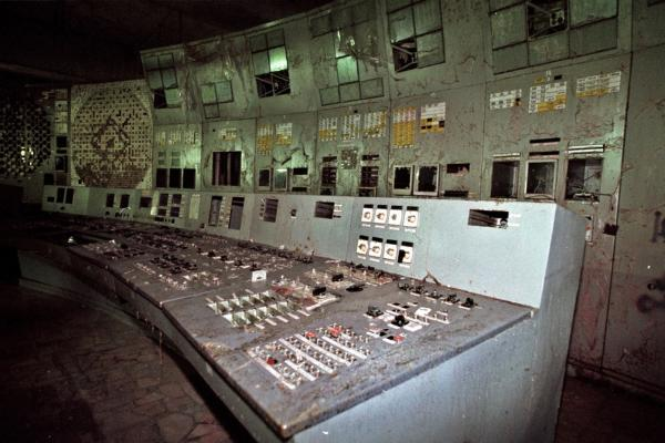 The control room of the damaged No. 4 reactor.