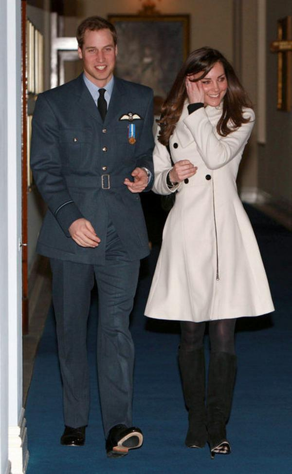 Prince William graduated as a military pilot in April 2008, following in the footsteps of a host of royal ancestors, and was presented with his ceremonial pilot's wings by his father, Prince Charles. Middleton accompanied Prince William to the ceremony amid heavy media attention.