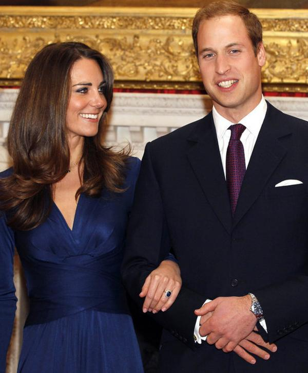 Prince William and Middleton at St. James's Palace in London, after they announced their engagement, on Nov. 16, 2010.