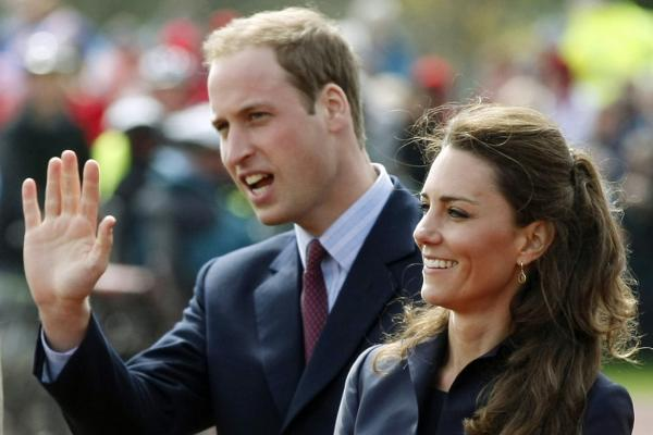 In one of their last public appearances before their wedding, Prince William and Middleton arrive at Witton Country Park, Darwen, England, April 11, 2011. London is expecting massive crowds along the parade route from Buckingham Palace to Westminster Abbey, where the couple will marry.
