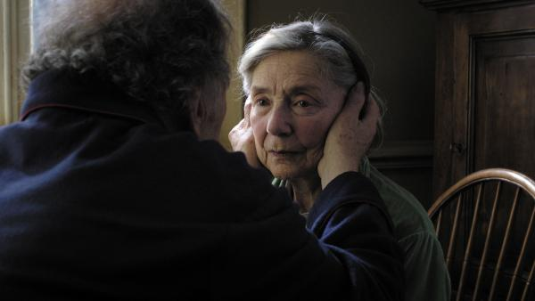 Emmanuelle Riva in <em>Amour</em>, a Cannes Film Festival favorite from director Michael Haneke.