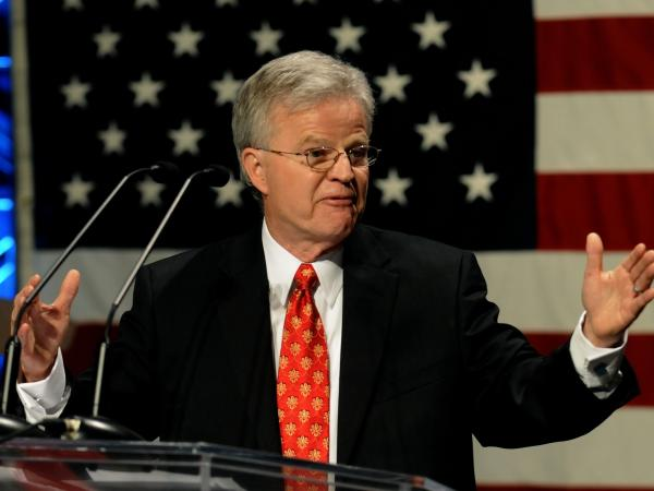 Former Louisiana Gov. Charles Elson 'Buddy' Roemer, III speaks at the Iowa Faith & Freedom Coalition Event, Monday March 7, 2011 in Waukee, Iowa. Roemer had been willing to run for president as the candidate with Americans Elect.