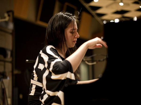 Pianist Vanessa Perez performs at NPR in Washington, D.C.