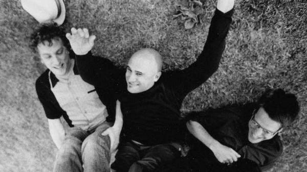 "Twelve years after uploading his band's songs on MP3.com, Jim's Big Ego lead singer Jim Infantino (center) still thinks digital music is ""pretty neat."""