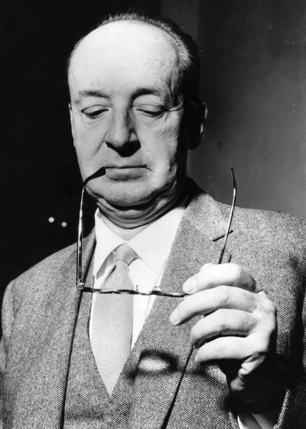 Russian writer Vladimir Nabokov (1899 - 1977) in Rome and at work on the film screenplay of his most famous book, <em>Lolita</em>.
