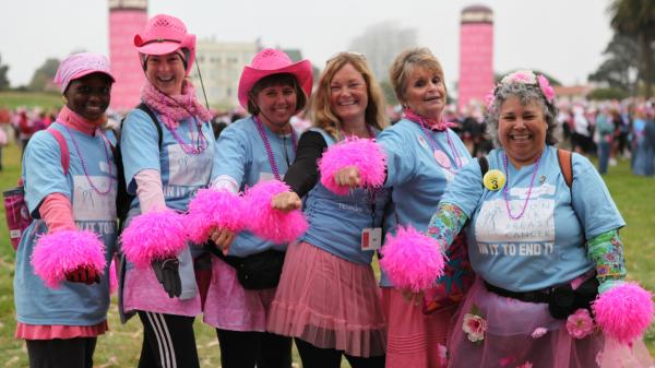 Participants at the 2010 Avon Walk for Breast Cancer, San Francisco, as seen in <em>Pink Ribbons, Inc.</em>