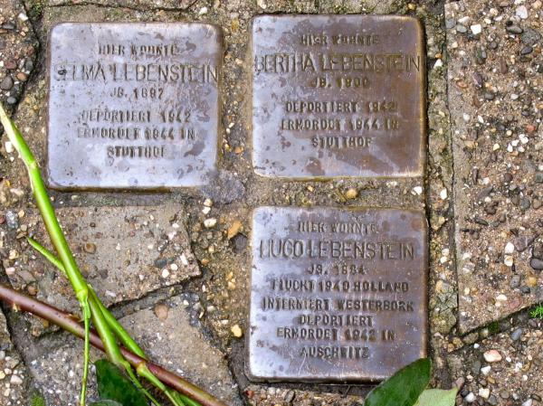 "The names of Jeffrey Katz's family members are depicted on ""stumbling stones"" in Lembeck, Germany. His relatives owned a home on the property near the stones, before they were evicted in 1942."