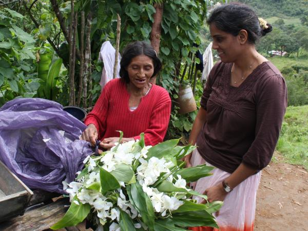 "Sharma, in Guatemala, says women ""just want equal access. They want a little bit of a hand so that they can get ahead ..."""