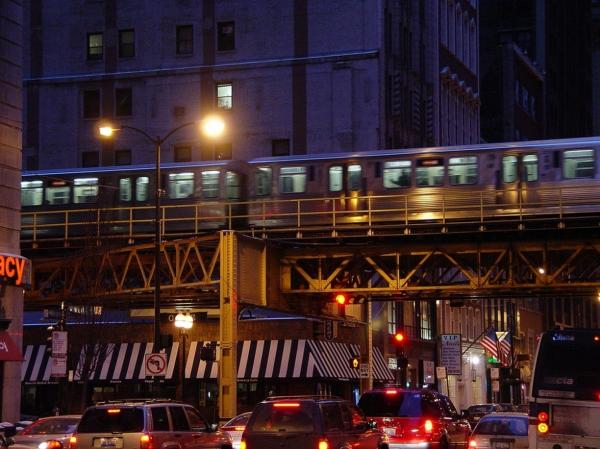 "Harvey says Chicago's elevated train, known as the ""L,"" fit so well into his novels because of how it connects so many different parts of the city together."