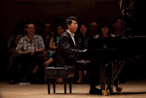 About 120 spectators were seated on stage with Lang Lang during this performance.
