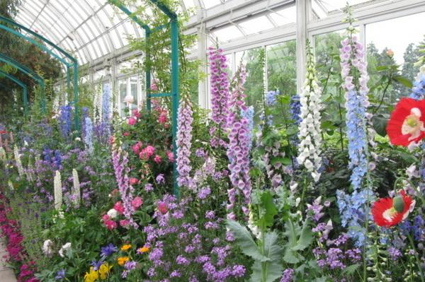 The New York exhibit's flowers will change as the show runs through spring, summer and fall.