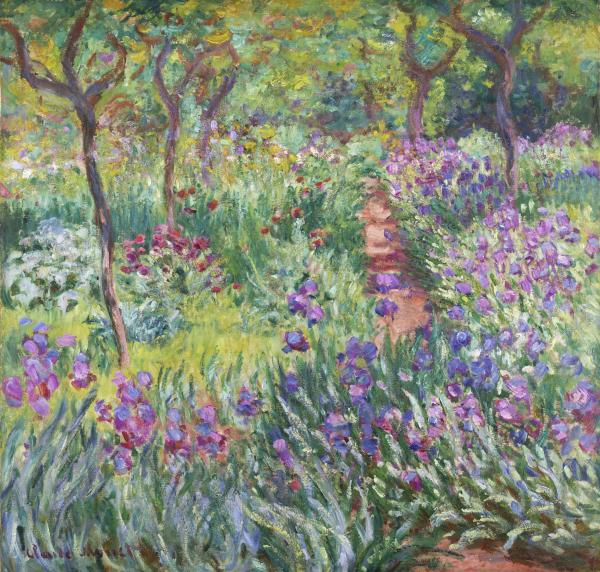 <em>The Artist's Garden in Giverny </em>is one of the two Monet paintings on display at the New York garden. Painted in 1900, it offers a glimpse of Monet's enthusiasm for his garden.