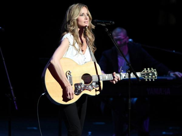 "Chely Wright performs at the ""Reading, Writing, Rhythm"" show in Nashville, Tenn."