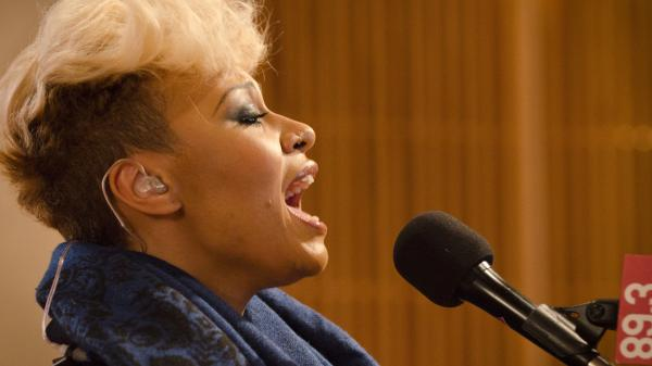 Emeli Sandé in studio at The Current.