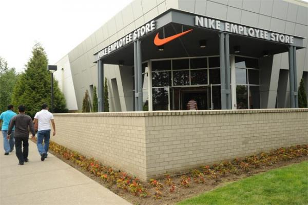 Entrance of the Nike Employee Store at the company's headquarters in Beaverton, Ore.. Photo by Wonderlane/ Flickr