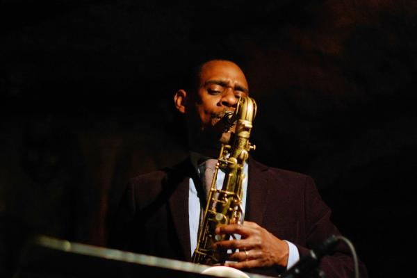 Brian Settles, pictured here at Bohemian Caverns, performs with his own Central Union band and with drummer Lenny Robinson's Mad Curious trio at DC Jazz Festival.