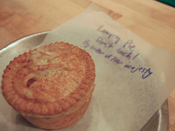 A Lamprey Pie from Pleasant House Bakery in Chicago.