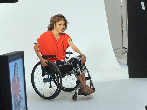 Angela Rockwood has a photography shoot as she tries to get back into modeling on Sundance's <em>Push Girls</em>.
