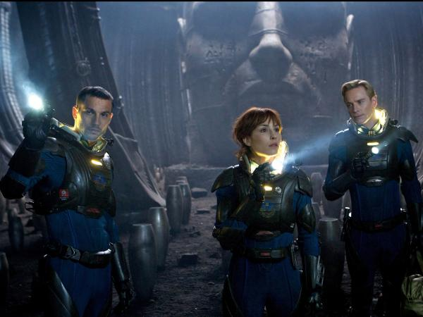 Logan Marshall-Green (left), Noomi Rapace and Michael Fassbender also star in the film, which opens in the U.S. June 8.