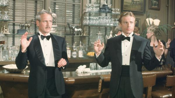 Paul Newman and Robert Redford in <em>The Sting</em>.