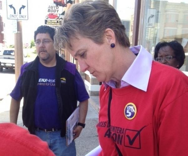 Mary Kay Henry, president of the SEIU.