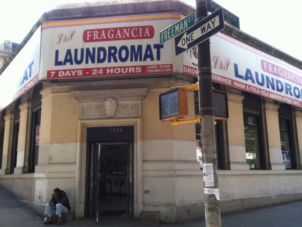 Before it was a laundromat, this building housed the Bronx branch of the Bank of the United States. One the first bank runs of the Great Depression happened here in 1930.