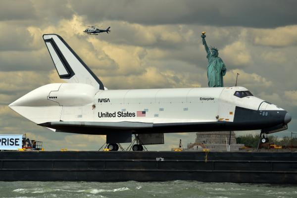 The shuttle was navigated through Coney Island and Staten Island from Jersey City.