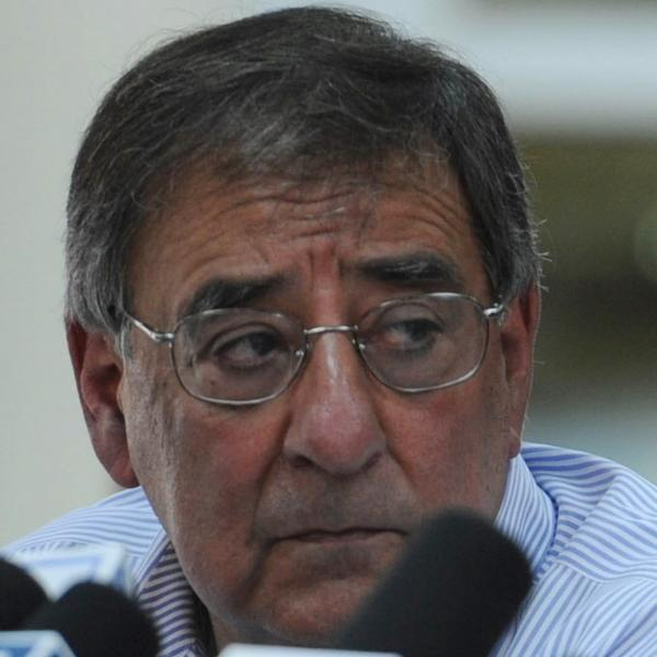Defense Secretary Leon Panetta earlier today in Kabul.
