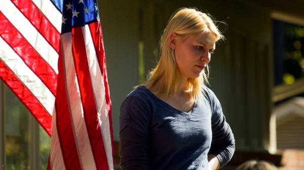 Claire Danes as Carrie Mathison in <em>Homeland</em>.