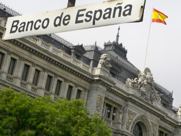 The Banco de Espana (Bank of Spain) in Madrid.