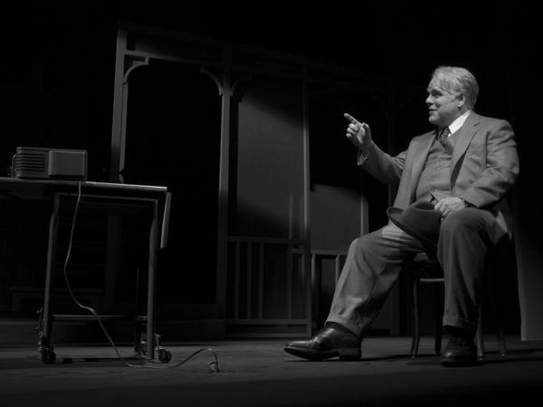 <strong></strong>Philip Seymour Hoffman in <em>Death of a</em> <em>Salesman</em>, directed by Mike Nichols. The play, Hoffman<em> </em>and Nichols are favorites to take home awards.