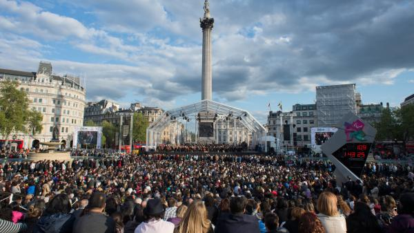 The London Symphony Orchestra, performing for real at a free concert in Trafalgar Square last month.