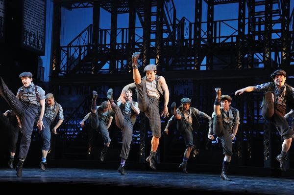 "The idea behind Ost's design was to keep the set out of the way of the storytelling --€"" and of <em>Newsies'</em> kinetic ensemble."