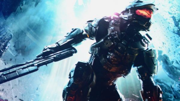 A scene from the new version of video game <em>Halo 4,</em> shown at the Microsoft Xbox E3 2012 media briefing.