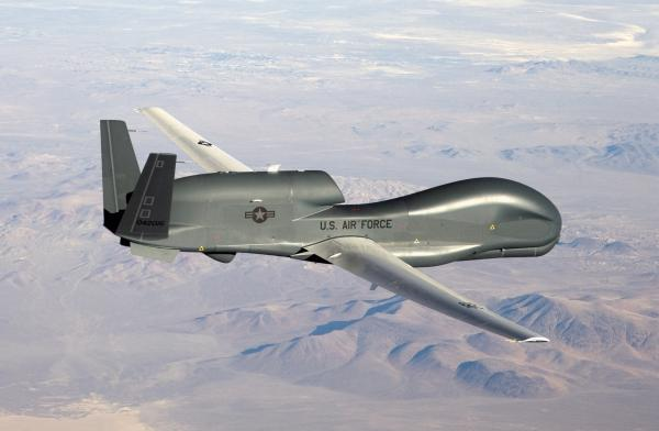 An RQ-4 Global Hawk unmanned aircraft.