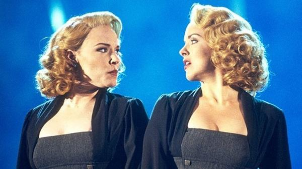 Emily Skinner (left) and Alice Ripley in the original Broadway production of a show that we will shortly discuss further<em>.</em>
