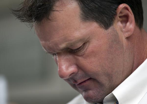 Former pitcher Roger Clemens leaves a federal court in Washington, D.C., on Tuesday. His fate is in the hands of a jury that will decide whether the former pitcher lied about his use of performance-enhancing drugs.
