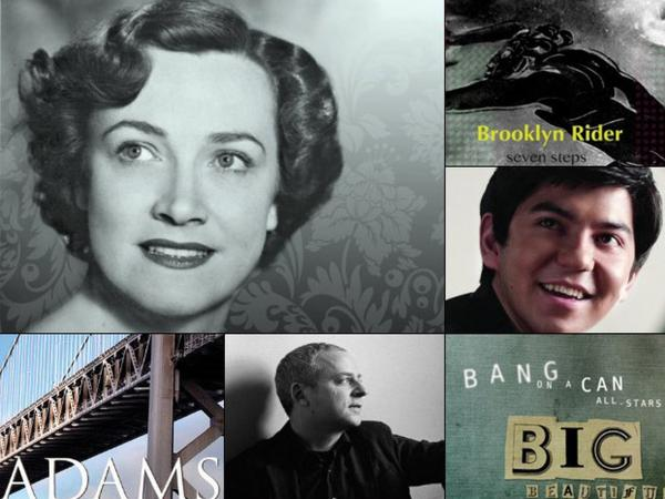 Some classical favorites so far this year. (Clockwise from upper left: Kathleen Ferrier, Brooklyn Rider, Behzod Abduraimov, Bang on a can All-Stars, Jeremy Denk, San Francisco Symphony)