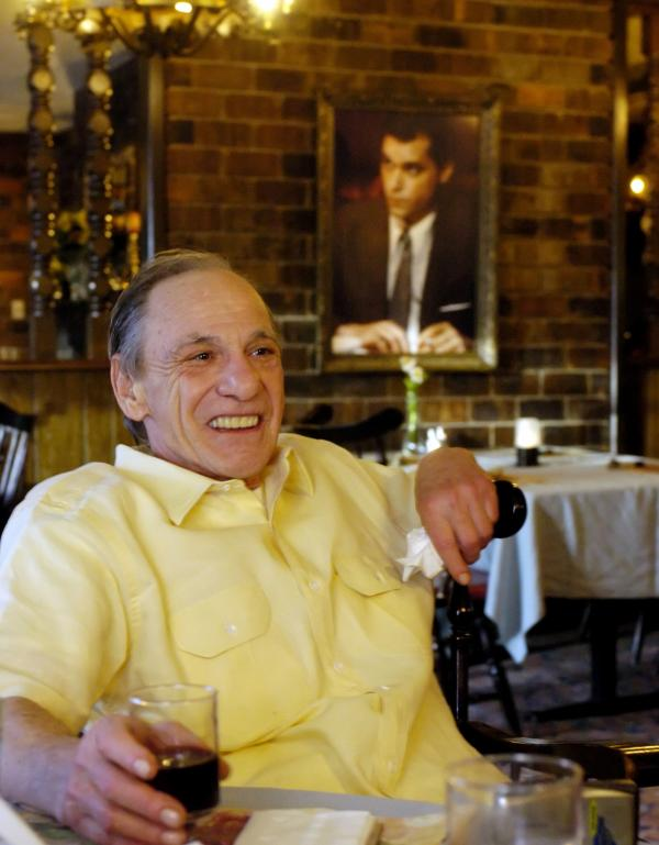 Henry Hill sits in the dining room of the Firefly restaurant in North Platte, Neb. in 2005.
