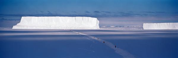 Walking to the Iceberg, Cape Washington, Antarctica, 2006