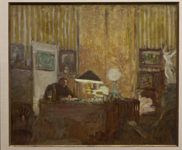<em>Thadee Natanson at His Desk</em>, c. 1899, oil on cardboard, mounted on panel.