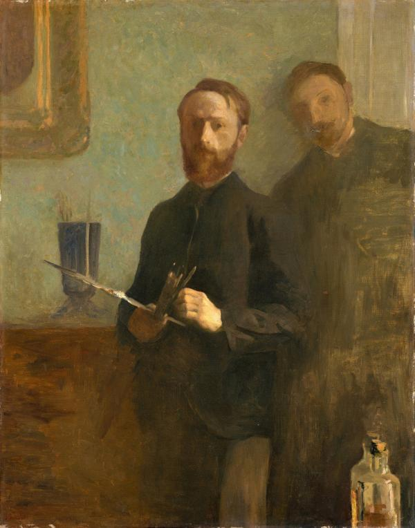 <em>Self-Portrait with Waroquy</em>, 1889, oil on canvas