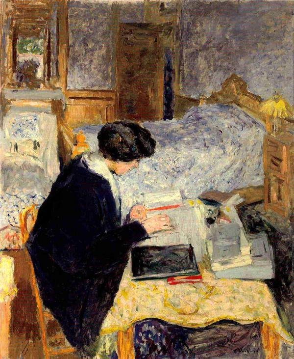 <em>Lucy Hessel Reading</em>, 1913, oil on canvas